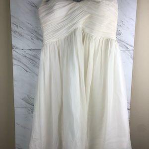 Donna Morgan cream color dress, sz 10